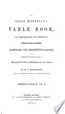 The Local Historian S Table Book Historical Division book