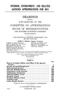 Interior  Environment  and Related Agencies Appropriations for 2011