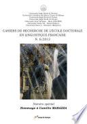 Cahiers de recherche de l'École Doctorale en Linguistique française. N. 6 / 2012