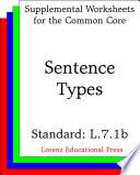 CCSS L 7 1b Sentence Types