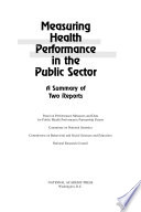 Measuring Health Performance in the Public Sector