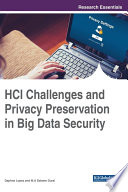 HCI Challenges and Privacy Preservation in Big Data Security