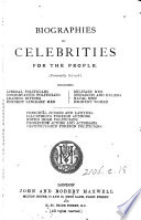 Biographies of celebrities for the people  ed  by F  Banfield
