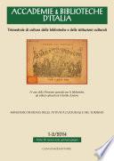 Accademie & Biblioteche d'Italia 1-2/2014