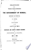Selections from the Records of the Government of Bengal