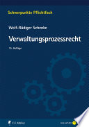 Schenke, Verwaltungsprozessrecht