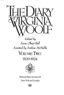 The Diary of Virginia Woolf  Vol 2  1920 1924