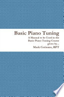Basic Piano Tuning