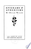 Epigrams   aphorisms