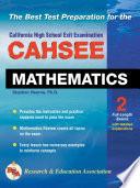 Cahsee Mathematics Test