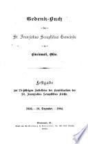 Gedenk-Buch der St. Franziskus Seraphikus Gemeinde in Cincinnati, Ohio