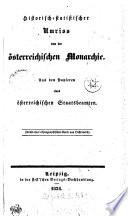 Historisch statistischer Umriss von der   sterreichischen Monarchie