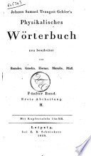 Johann Samuel Traugott Gehler s Physikalisches Worterbuch