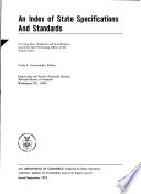 An Index of State Specifications and Standards
