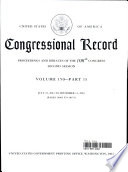 Congressional Record, V. 150, PT. 13, July 22, 2004 To September 14, 2004 : congressional session in the house...