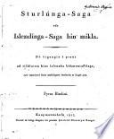 Sturlunga-Saga edr Íslendínga-Saga hin mikla