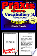 PRAXIS Core Test Prep Advanced Vocabulary 3 Review  Exambusters Flash Cards  Workbook 3 of 8