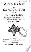 Analyses et dissertations sur les livres de l'ancien testament