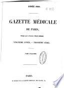 Gazette médicale de Paris