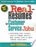 Real Resumes for Customer Service Jobs