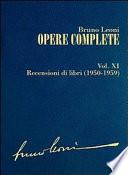 Opere complete  XI  Recensioni di libri  1950 1959