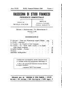 Rassegna di studi francesi organo trimestrale della Sezione pugliese dell'Union intellectuelle franco-italienne di Parigi