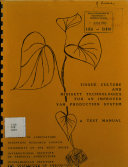 Tissue culture and Minisett Technologies for an improved yam production system: a test manual