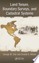 Land Tenure  Boundary Surveys  and Cadastral Systems