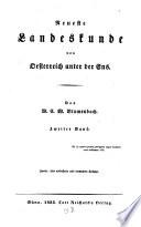 Neueste Landeskunde von Oesterreich unter der Ens