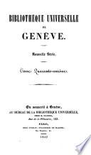 Biblioth  que universelle de Gen  ve  Nouvelle s  rie