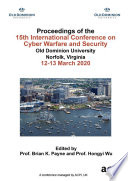 Iccws 2020 15th International Conference On Cyber Warfare And Security