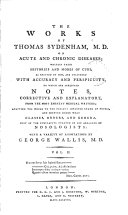 download ebook the works of thomas sydenham, m.d. on acute and chronic diseases; pdf epub