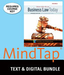 Business Law Today  Standard   Lms Integrated for Mindtap Business Law  1 Term 6 Month Printed Access Card