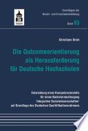 Die Outcomeorientierung Als Herausforderung F R Deutsche Hochschulen