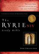 The Ryrie  Niv 1984 Edition  Study Bible Genuine Leather Burgundy Red Letter