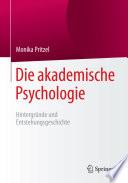 Die akademische Psychologie  Hintergr  nde und Entstehungsgeschichte