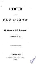 Rímur af Jóhanni og Jóhännu
