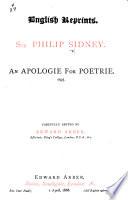 An apologie for poetrie  1595  Carefully edited by Edward Arber