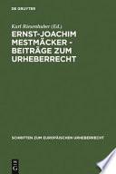 Ernst Joachim Mestm  cker   Beitr  ge zum Urheberrecht