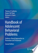 Handbook Of Adolescent Behavioral Problems