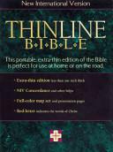 Bib New International Version/Thinline Leather, Gold Edging