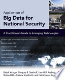 Application Of Big Data For National Security