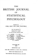 The British Journal of Statistical Psychology Book PDF