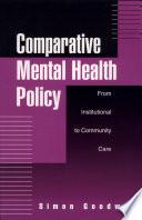 Comparative Mental Health Policy