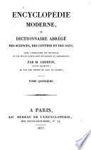 Encyclopédie moderne, ou, Dictionnaire abrégé des sciences, des lettres et des arts