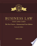 Business Law  Text   Cases   The First Course   Summarized Case Edition