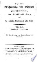 Beschreibung von Breslau der Hauptstadt des Herzogthums Schlesien