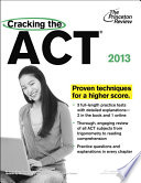 Cracking the ACT  2013 Edition
