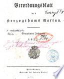 Verordnungsblatt des Herzogtums Nassau