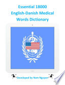 Essential 18000 Medical Words Dictionary In English Danish